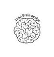 brain logo design template vector image vector image