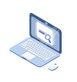 cartoon laptop modern isometric design vector image