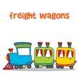 Cartoon of transportation freight wagons vector image