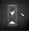 chalk drawn hourglass vector image