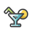 cocktail with lemon icon cartoon vector image
