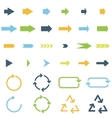 colored arrows vector image vector image