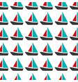 colorful pattern with sailing boats vector image