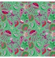 Colorful seamless pattern with fish starfish vector image