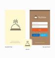 company dish splash screen and login page design vector image vector image