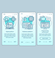 computer technology onboarding mobile app page vector image vector image