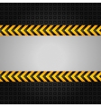 construction warning background vector image vector image