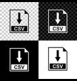 csv file document icon download csv button icon vector image vector image