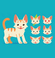 cute cat standing of happy vector image vector image
