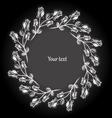 Decorative vintage frame Black and white vector image vector image