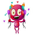 devil with balloons on white background vector image vector image