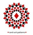 Diamond card suit snowflake vector image vector image