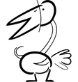 doodle bird for coloring vector image vector image