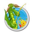 Dragon Pisces zodiac sign vector image vector image