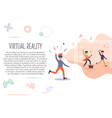 excited man in virtual reality 3d concert feeling vector image
