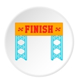 Finish line icon cartoon style vector image vector image