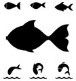 fish icon or logo vector image
