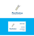 flat pop logo and visiting card template busienss vector image