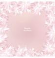 flower cover floral frame flourish summer vector image