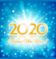 happy new year 2020 invitation card vector image vector image