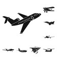 isolated object of plane and transport symbol vector image