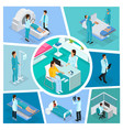isometric medicine composition vector image vector image