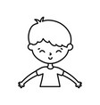 little boy infant cartoon character line style vector image vector image