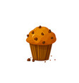 muffin icon isolated on white background vector image