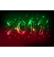 Neon banner or poster with blured lights vector image vector image