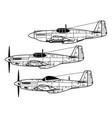north american p-51 mustang vector image vector image