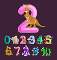 ordinal number 2 for teaching children counting vector image vector image