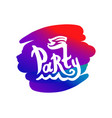 party colorful logo with boat and vector image