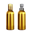 perfume spray metallic bottle vector image