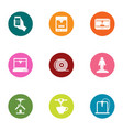 print material icons set flat style vector image