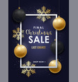 realistic christmas design with gold and black vector image vector image
