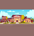 rental of house estate cottage rent vector image