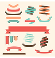 Ribbon Banner Set design elements vector image vector image