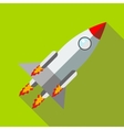 Rocket launch icon in flat style icon flat style vector image vector image