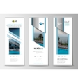 Roll up banner stands flat design abstract
