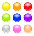 set colorful realistic spheres isolated on white vector image