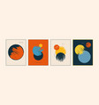 Set modern minimal colorful posters cards