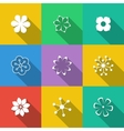 Set of Floral Buttons vector image
