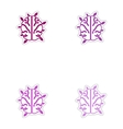 Set of paper stickers on white background symbol vector image vector image