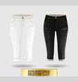 set of realistick breeches mockup denim vector image vector image