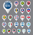 set the pointer to the map with the flag vector image
