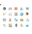 simple set public navigation flat icons for vector image