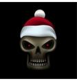 Skull in santa cap vector image