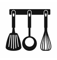 Spatula ladle and whisk kitchen tools icon