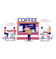 street coffee shop concept for web banner vector image