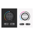 switch round knob button on dark and white vector image
